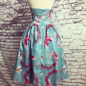 Lindy Bop Dresses - Lindy Bop 1950s Teal Red Peacock Swing Party Dress